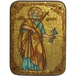 """Подарочная икона """"Первоверховный апостол Петр"""" полу-аналойного размера"""