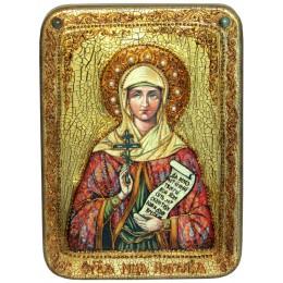 """Подарочная икона """"Святая Мученица Наталия Никомидийская"""" на мореном дубе"""