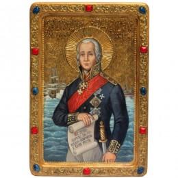 Живописная икона Святой праведный воин Феодор Адмирал (Ушаков)