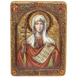 "Живописная икона ""Святая мученица Татиана"" на кипарисе"