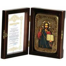 "Настольная икона ""Господа Иисуса Христа"" на мореном дубе"