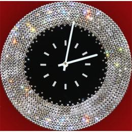 """Часы настенные Swarovski """"Ожерелье """" d30 см"""