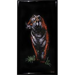 """Картина с кристалами Swarovski """"Бенгальский тигр"""""""