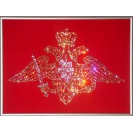 """Картина с кристалами Сваровски """"Эмблема вооруженных сил"""""""