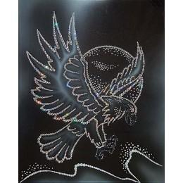 "Картина с кристалами Swarovski ""Белый орел"""