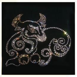 "Картина с кристалами Swarovski ""Бык-символ (2009)"""