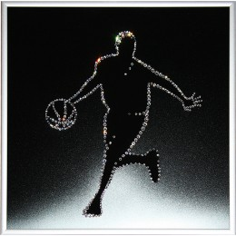 "Картина с кристалами Сваровски ""Баскетболист"""
