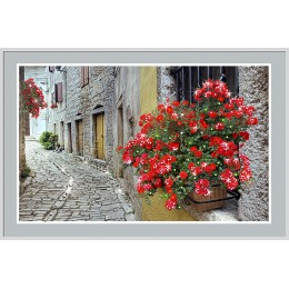 "Картина Swarovski ""Цветочный переулок"""