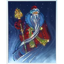 """Картина с кристалами Swarovski """"Дед Мороз"""""""