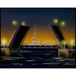 "Картина Swarovski ""Дворцовый мост"""