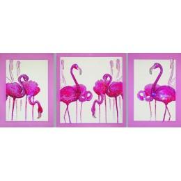 """Картина Swarovski """"Фламинго триптих"""""""