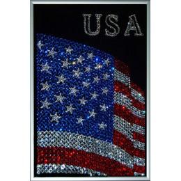 "Картина с кристалами Swarovski ""Флаг USA"""