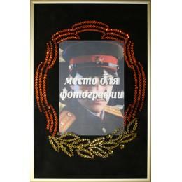 """Картина с кристалами Swarovski """"Фоторамка к 23 февраля"""""""