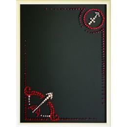 "Картина с кристалами Swarovski ""Фоторамка знак зодиака Стрелец"""