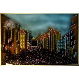 "Картина с кристалами Swarovski ""Город старый"""