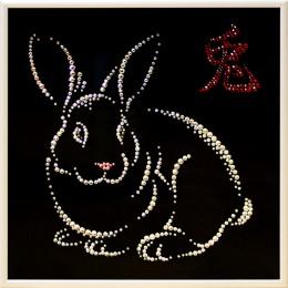 """Картина Swarovski """"Год кролика"""""""