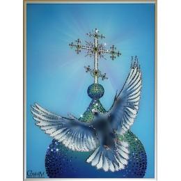 """Картина с кристалами Swarovski """"Голубь мира"""""""