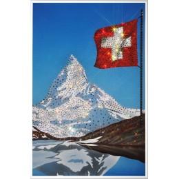 "Картина Swarovski ""Гора в Альпах Маттерхорн"""