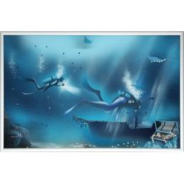 """Картина Swarovski """"Голубая лагуна 2"""""""