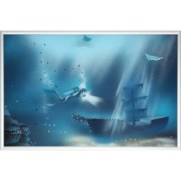 "Картина с кристалами Swarovski ""Голубая лагуна 1"""