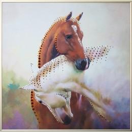 """Картина Swarovski """"Инь-ян в год лошади"""""""