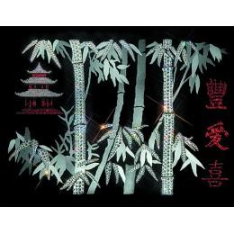 """Картина с кристалами Swarovski """"Иероглиф»Пожелание благополучия»"""""""