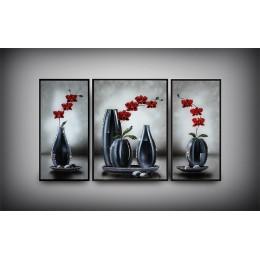 """Картина с кристалами Swarovski """"Изящество формы (триптих)"""""""