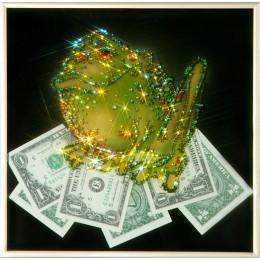 "Картина Swarovski ""Жаба  с долларами"""