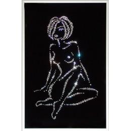 "Картина с кристалами Swarovski ""Женский силуэт -Каприз"""