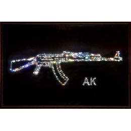 """Картина с кристалами Swarovski """"Калашников"""""""