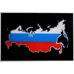 """Картина Сваровски """"Карта России"""""""