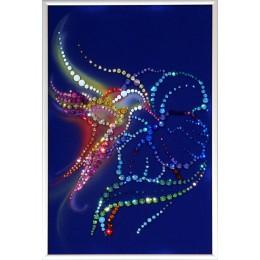"Картина с кристалами Swarovski ""Колибри"""