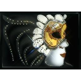 """Картина с кристалами Swarovski """"Карнавальная маска"""""""