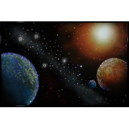 "Картина с кристалами Swarovski ""Космос"""