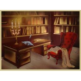 """Картина с кристалами Сваровски """"Кабинет Шерлока Холмса"""""""