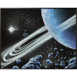 "Картина с кристалами Swarovski ""Кольца Сатурна"""