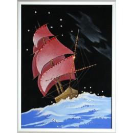 "Картина с кристалами Swarovski ""Корабль"""