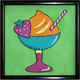 "Картина с кристалами Swarovski ""Коктейль-Мороженое"""