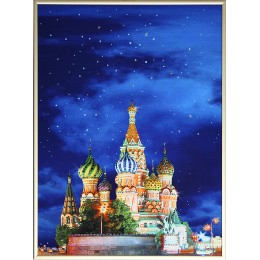 """Картина Swarovski """"Красная площадь-1"""""""