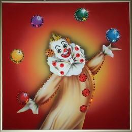 """Картина Swarovski """"Клоун"""""""