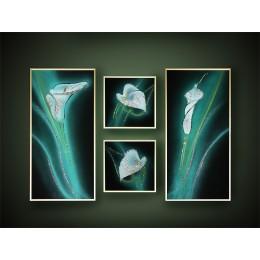 "Картина с кристалами Swarovski ""Композиция «Каллы»"""