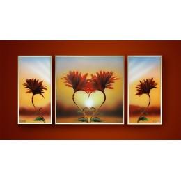"""Картина с кристалами Сваровски """"Комп.Природа любви"""""""