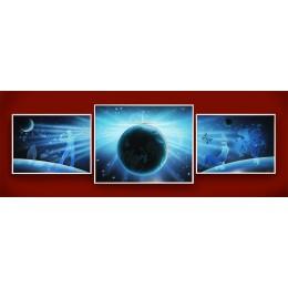 """Картина с кристалами Swarovski """"Композиция во Вселенной"""""""