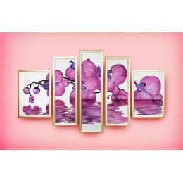 """Картина с кристалами Swarovski """"Композиция """"Сиреневая орхидея"""""""""""