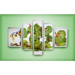 "Картина Swarovski ""Композиция""Орхидея"""""
