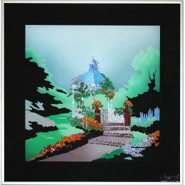 "Картина с кристалами Swarovski ""Летний сад"""