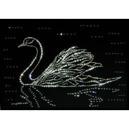 """Картина Swarovski """"Лебедь"""""""