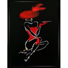 "Картина Сваровски ""Леди в красном (Lady in red)"""