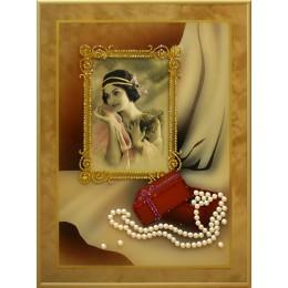 """Картина с кристалами Swarovski """"Любимая фотография"""""""
