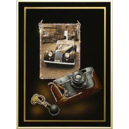 """Картина с кристалами Сваровски """"Любительская фотография-Ретро"""""""